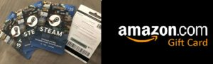 amazon and steam gift card